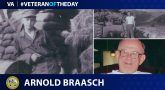 Army Veteran Arnold J. Braasch is today's Veteran of the day.