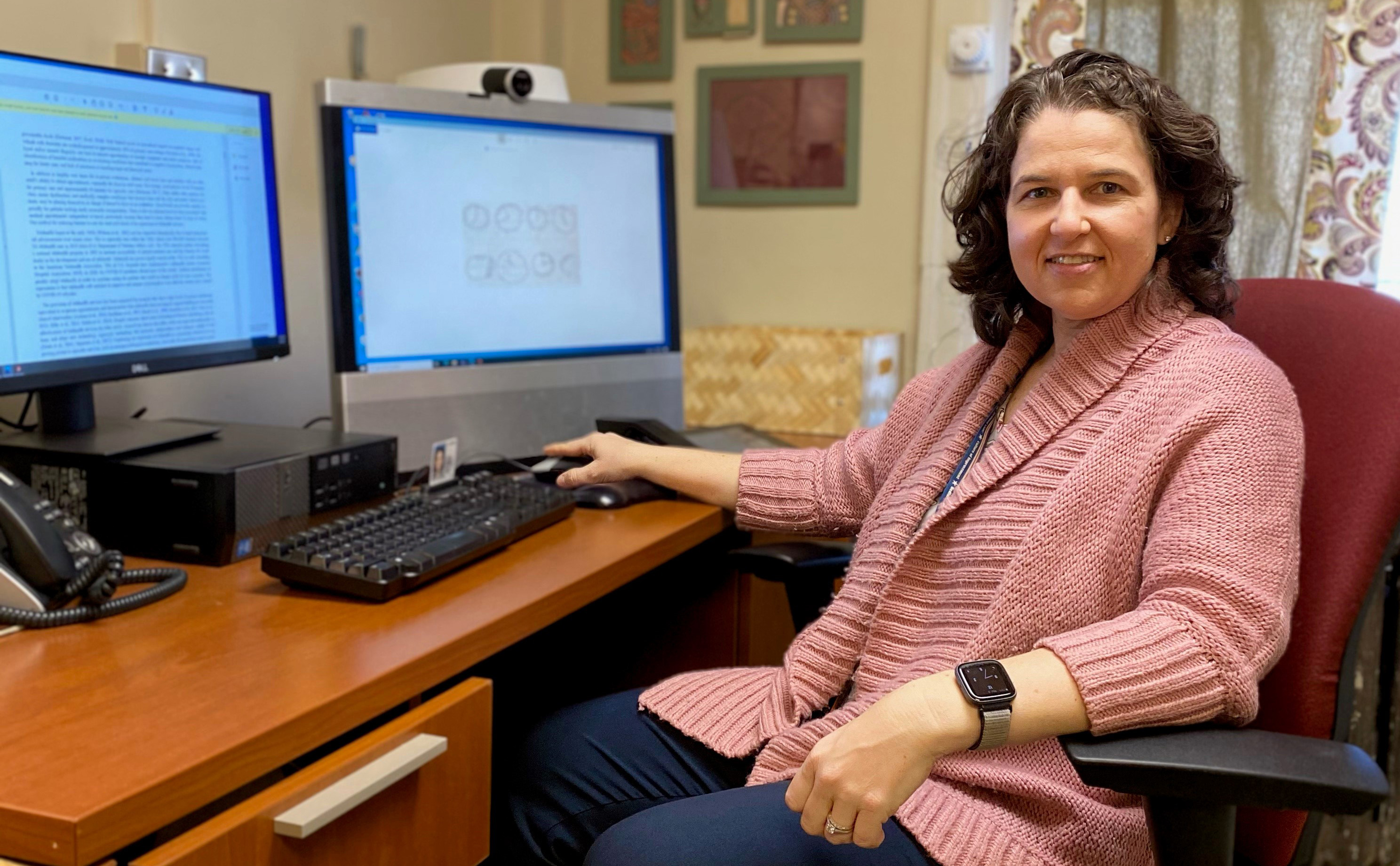 """Dr. Malissa Kraft, a neuropsychologist at VA Bedford, led a study that described teleneuropsychology as a """"feasible and acceptable alternative"""" to traditional in-person cognitive evaluations of older adults."""
