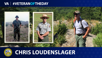 Army Veteran Chris Loudenslager is today's Veteran of the day.