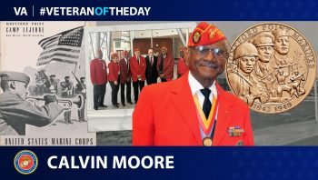 Marine Corps Veteran Calvin Moore is today's Veteran of the day.