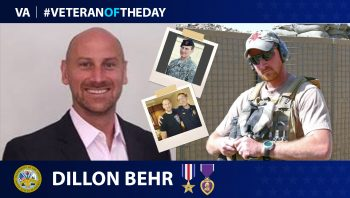 Army Veteran Dillon Behr is today's Veteran of the day.
