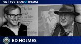 Navy Veteran Ed Holmes is today's Veteran of the day.