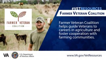 Farmer Veteran Coalition is a nationwide organization and the largest non-profit organization that guides Veterans to careers in agriculture.