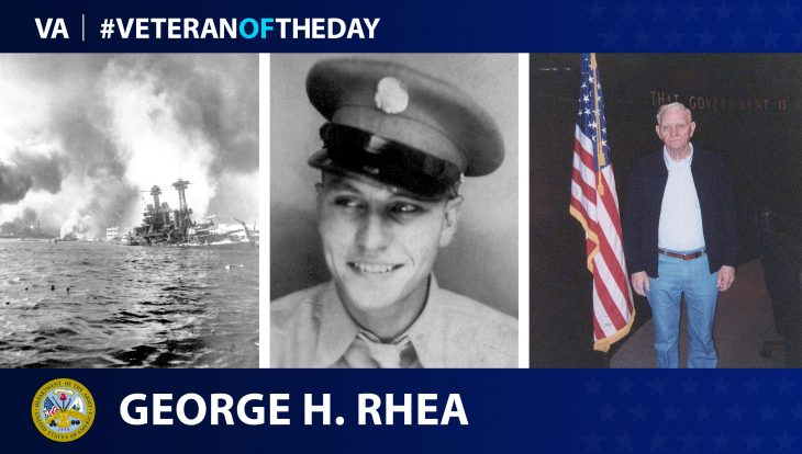 Army Veteran George H. Rhea is today's Veteran of the day.