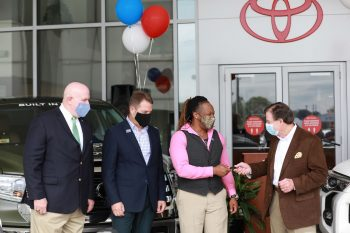 veteran toyota winner getting keys