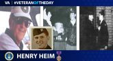 Air Force Veteran Henry A. Heim is today's Veteran of the day.