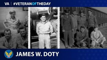 Army Air Forces Veteran James Willard Doty is today's Veteran of the day.