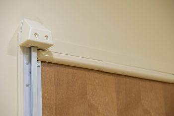 The 3D block removes an anchor point next to the alarm bar that runs across the top of the door to notify hospital staff of a suicide attempt. (Photo by Bill George)