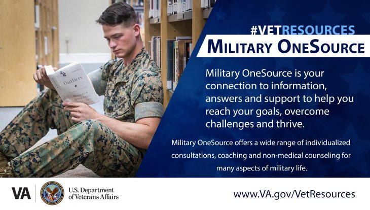 Military OneSource is a website that provides various tools and resources for Veterans, service members, their families, military academy cadets and designated Department of Defense expeditionary civilians.