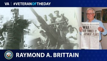Navy Veteran Raymond A. Brittain is today's Veteran of the day.