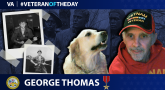 Army Veteran George Thomas is today's Veteran of the day.