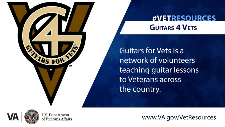 Guitars For Vets can help Veterans working through physical injuries, post-traumatic stress disorder and other forms of emotional distress.