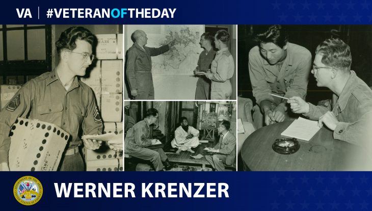 Army Veteran Werner Krenzer is today's Veteran of the day.