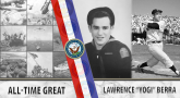 Navy Veteran and MLB Hall of Famer Yogi Berra.