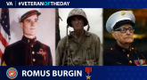 "Marine Corps Veteran Romus ""RV"" Burgin is today's Veteran of the day."