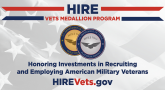hire vets medallion award program graphic