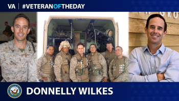 Navy Veteran Donnelly Wilkes is today's Veteran of the day.