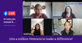 AMVETS and VA held a FB Live to discuss MVP