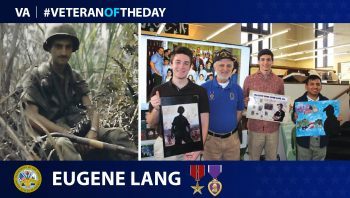 Army Veteran Eugene Lang is today's Veteran of the day.
