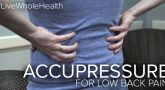LWH acupressure for lower back pain