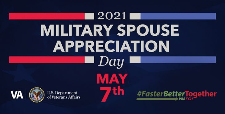 Graphic honoring military spouse appreciation day 2021
