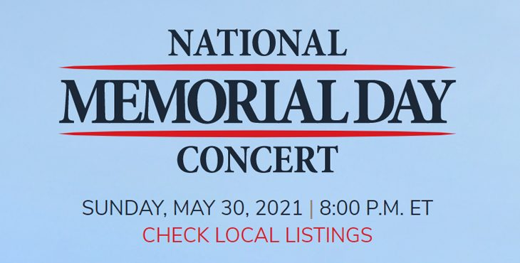 The National Memorial Day Concert will air May 30 on PBS, hosted by Tony Award-winner Joe Mantegna and Emmy Award-winning actor Gary Sinise.