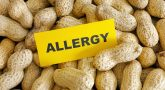 Picture of peanuts with Allergy sign