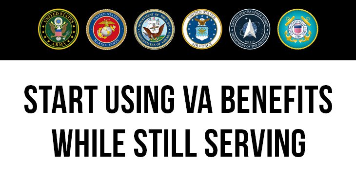 Soldiers, sailors, airmen, Marines, Guardians and Coast Guardsmen don't need to wait until separating to start using benefits they earned.