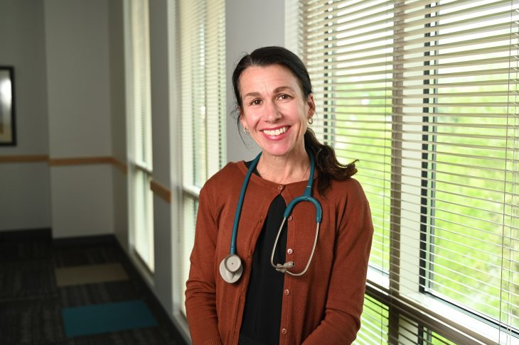 Dr. Tracy Frech, a VA rheumatologist, is working with VA-TEAM in hopes that her software aimed at benefiting Veterans with Raynaud's phenomenon will eventually reach the marketplace. (Photo by Jeff Grandon)