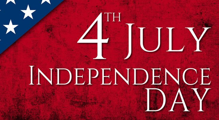 USA Independence Day background with texts and USA flag elements