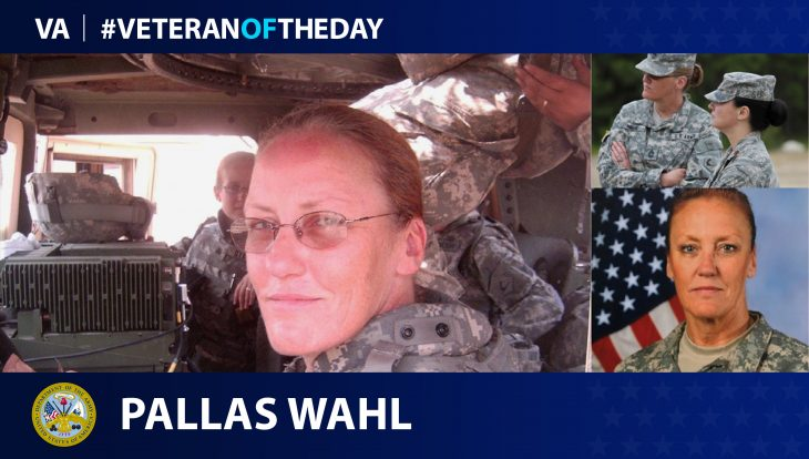 Army Veteran Pallas Wahl is today's Veteran of the day.