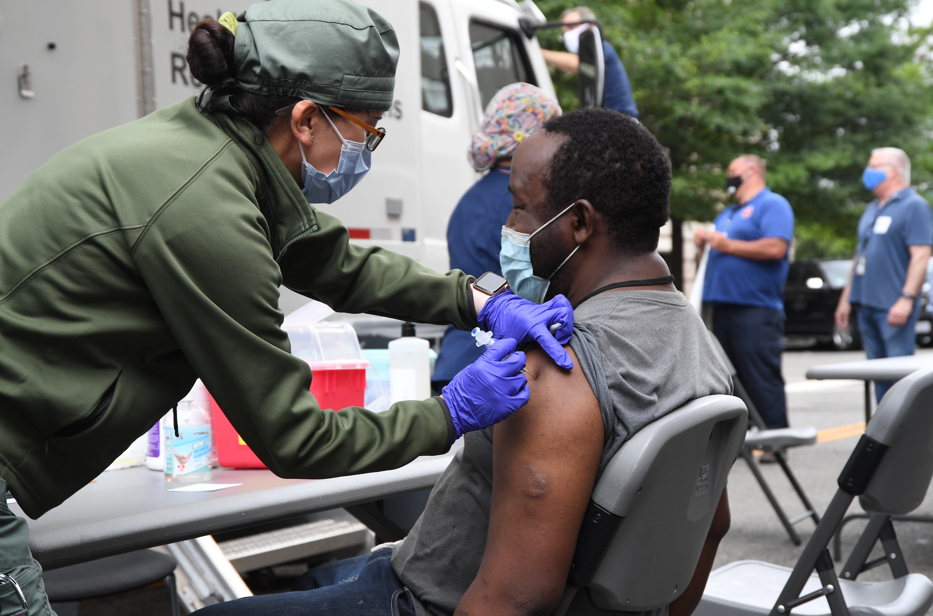 Fourth Mission vaccination event at VACO
