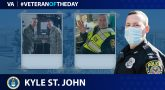 Air Force and Army Veteran Kyle St. John is today's Veteran of the day.