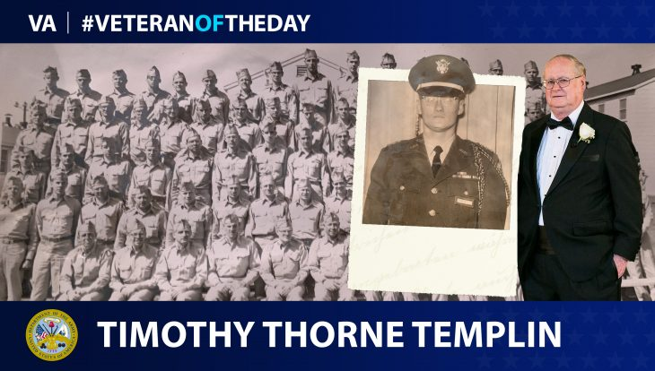Army Veteran Timothy Thorne Templin is today's Veteran of the day.