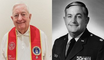 Dual image of Bob Kroener as an older man on the left and a younger man on the right.
