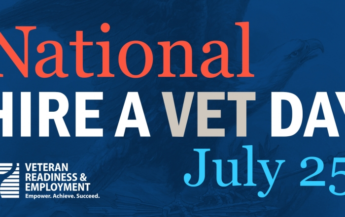 National Hire a Veteran Day Banner