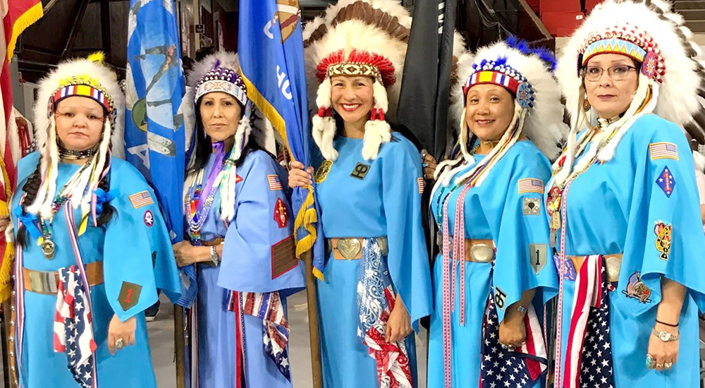 Tribal Veteran outreach to women Veterans in traditional dress