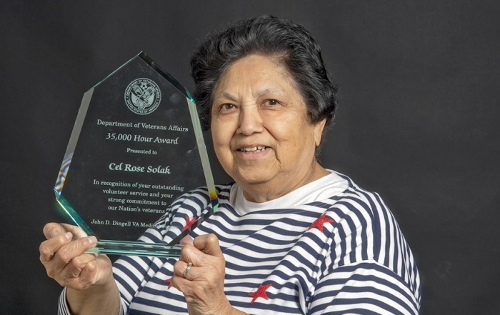 Rose Solak has been a volunteer to serve Veterans in the Detroit area for four decades