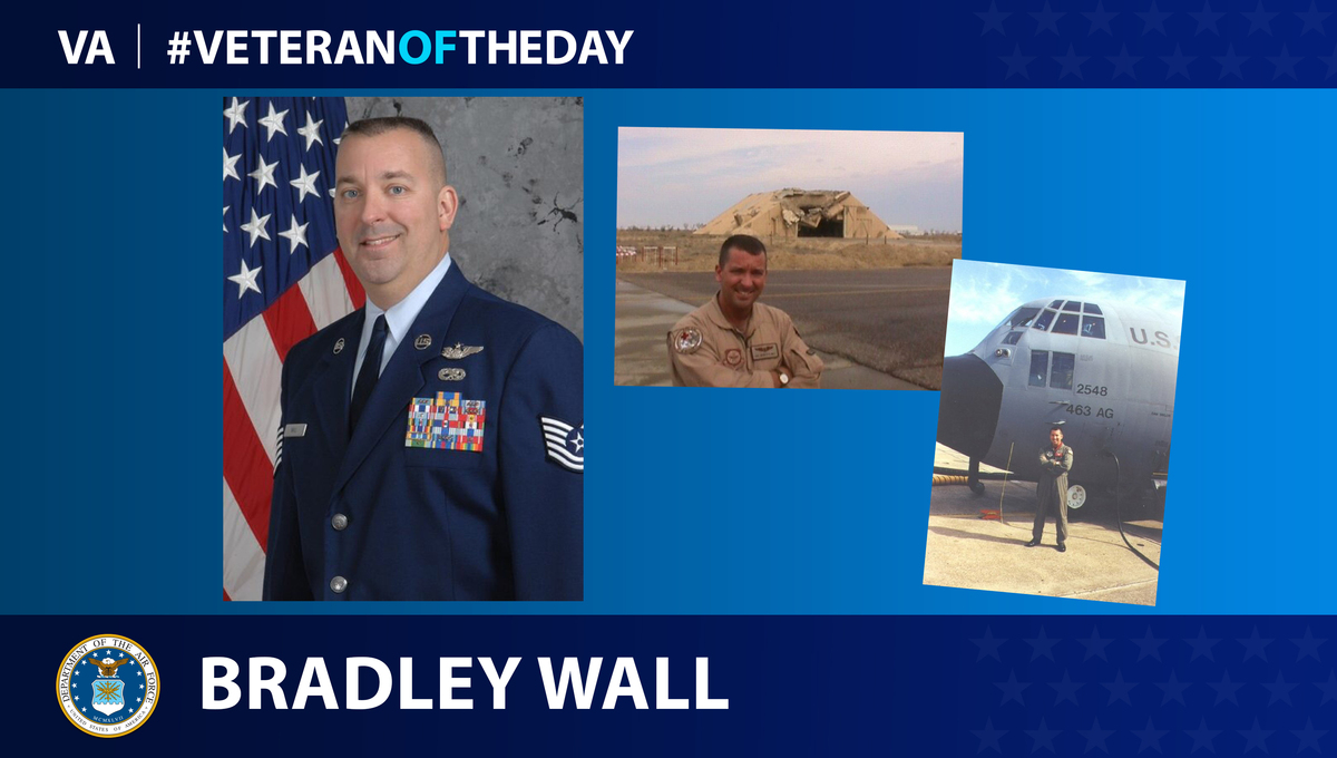 Air Force Veteran Bradley Wall is today's Veteran of the day.