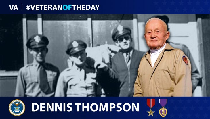 """Air Force Veteran Dennis """"Denny"""" Thompson is today's Veteran of the day."""