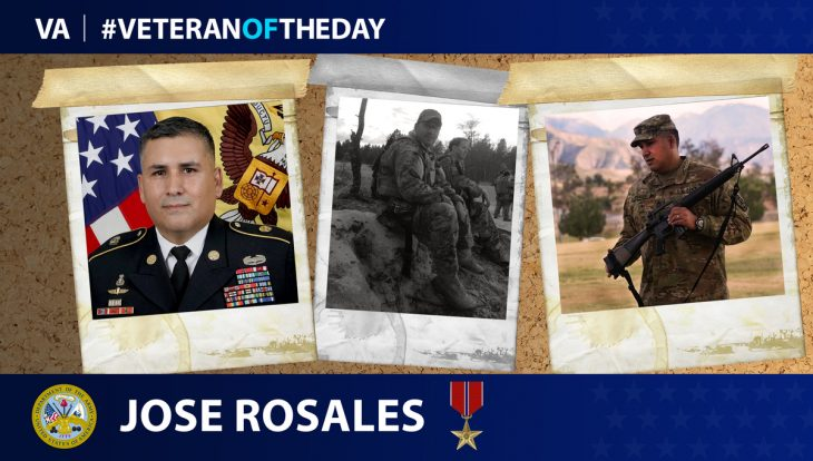 Army Veteran Jose A. Rosales is today's Veteran of the day.