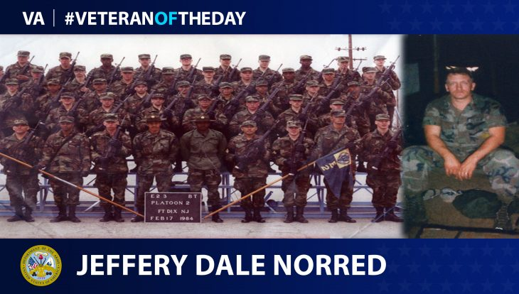 Army Veteran Jeffrey Dale Norred is today's Veteran of the day.