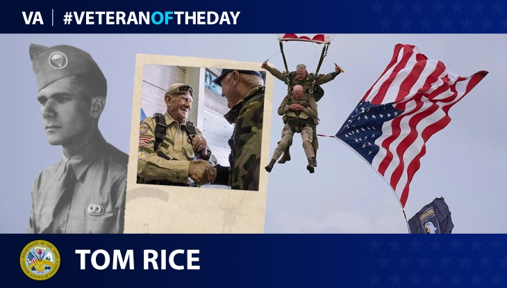 Army Veteran Tom Rice is today's Veteran of the day.