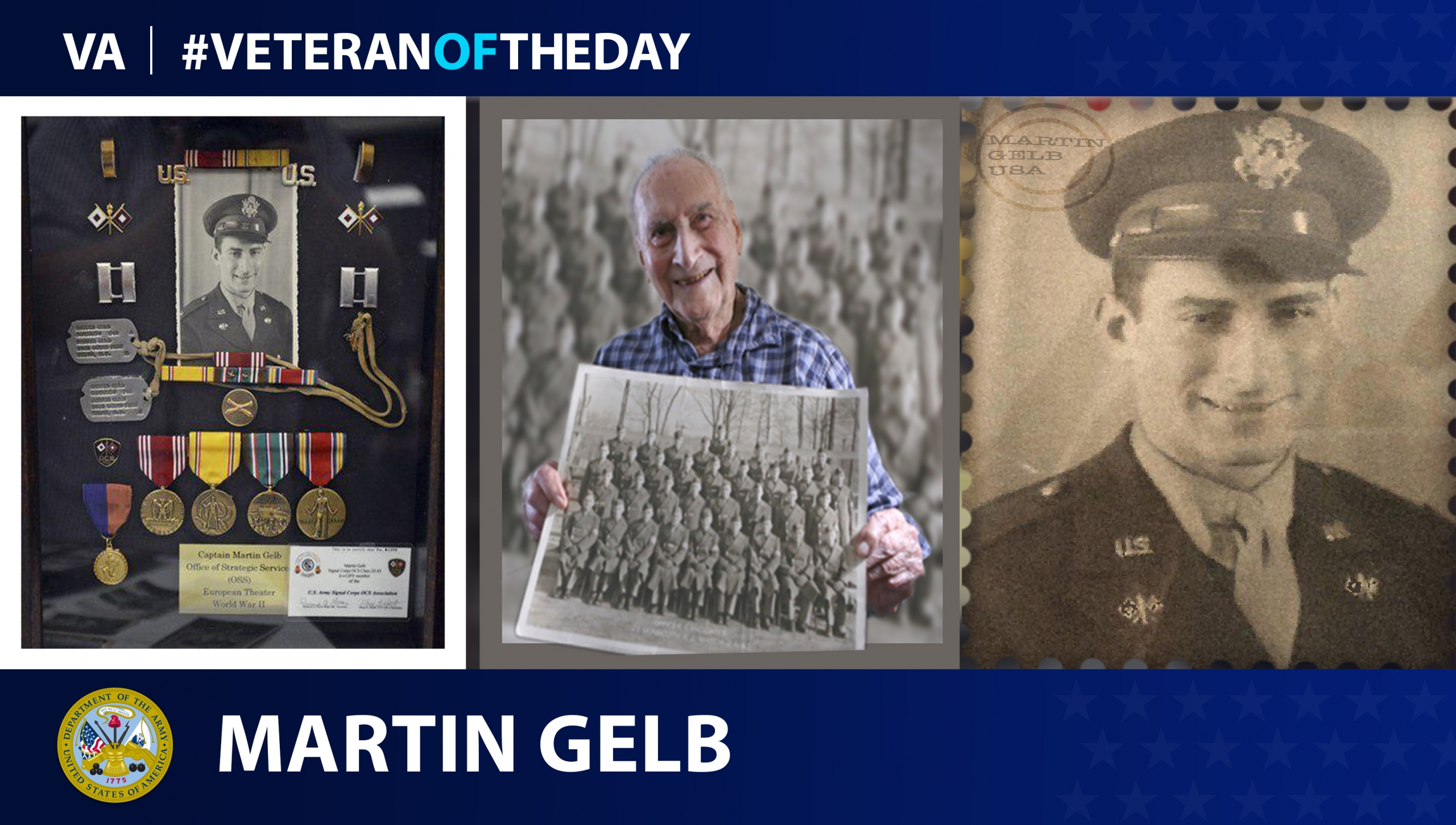 Army Veteran Martin Gelb is today's Veteran of the day.