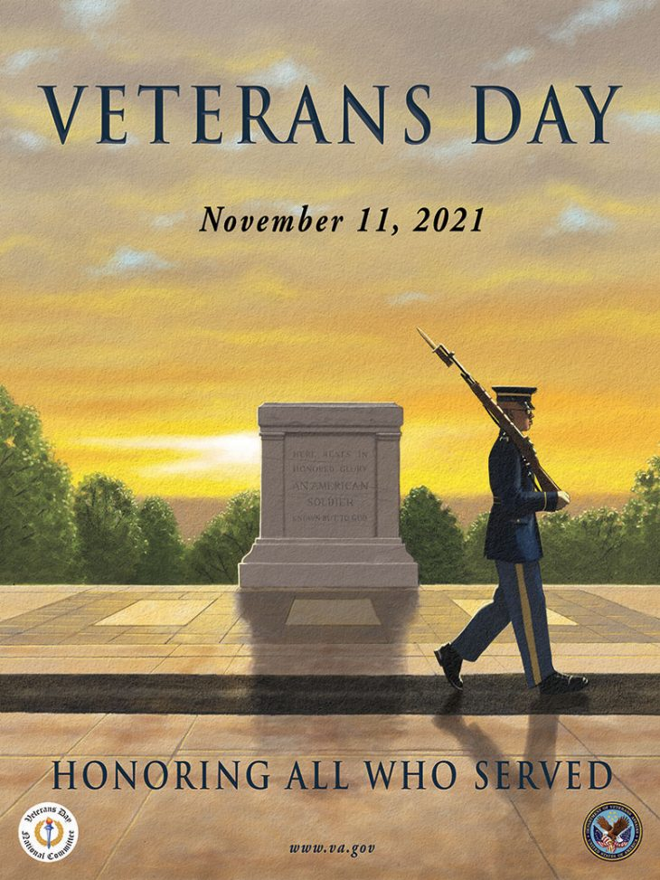 The Veterans Day poster for 2021.