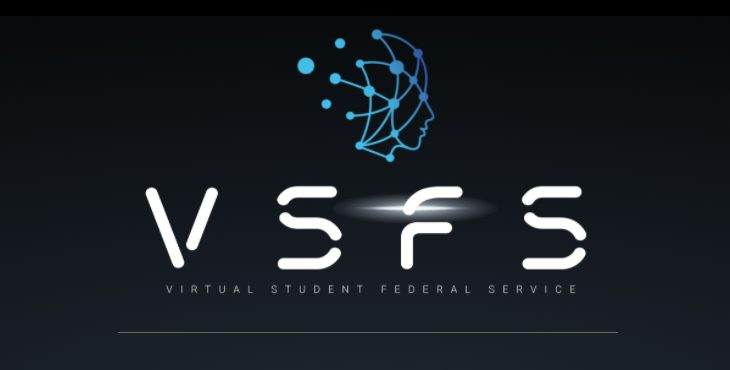 Picture shows the Virtual Student Federal Service Logo and Branding