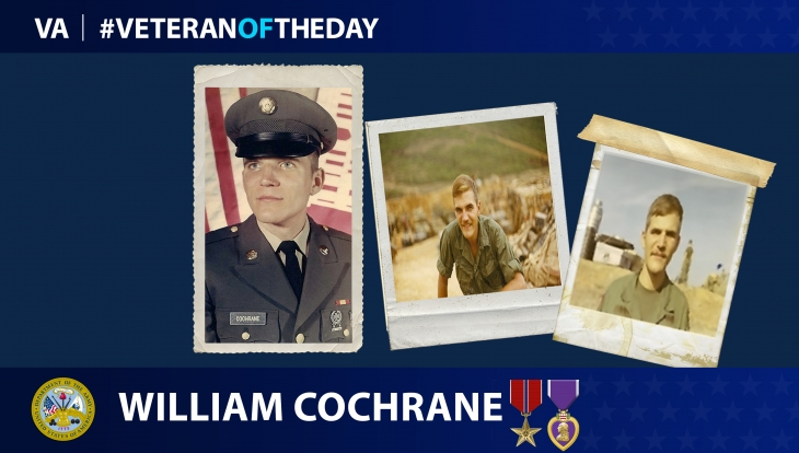 Army Veteran William Cochrane is today's Veteran of the day.