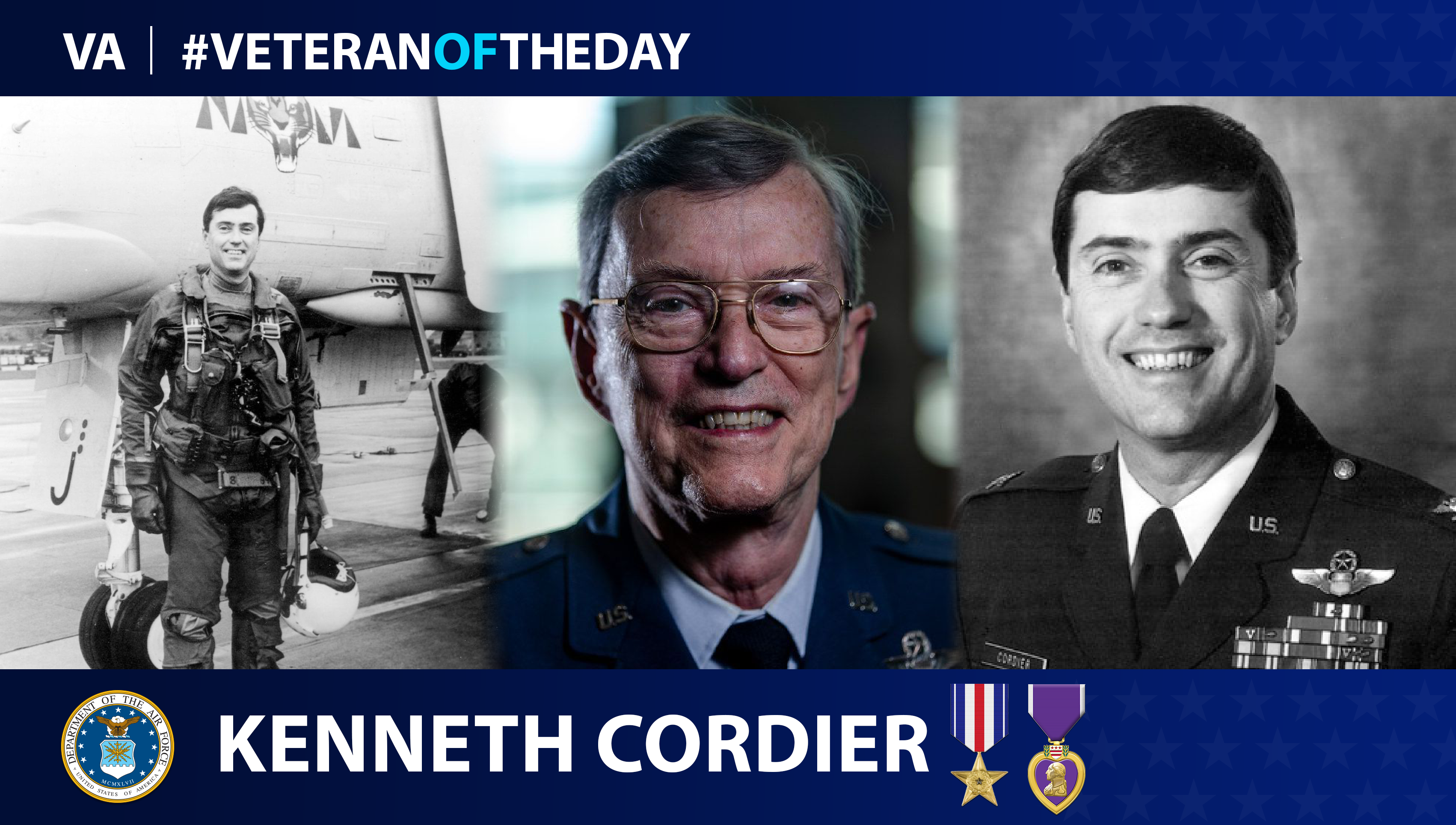 Air Force Veteran Kenneth Cordier is today's #VeteranOfTheDay