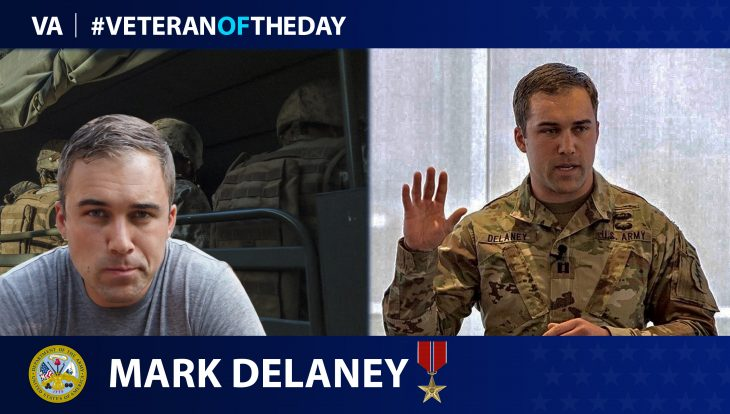 Army Veteran Mark Delaney is today's Veteran of the day.