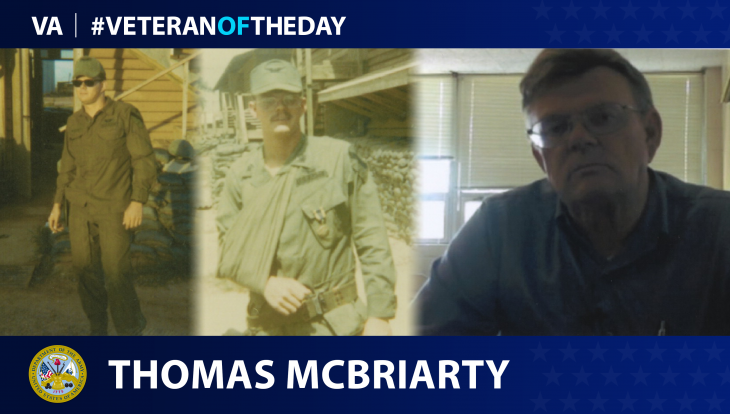 Army Veteran Thomas Scott McBriarty is today's Veteran of the day.